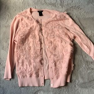 Pink cardigan Ann Taylor